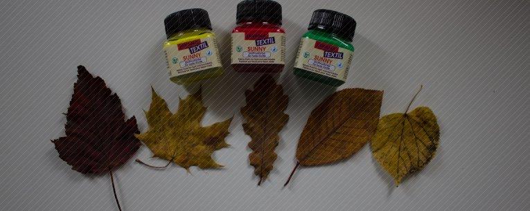 Textilfarbe, Blätter