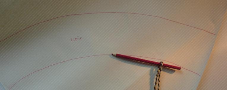 Papiermuster gekennzeichnet mit verschieden farbigen Bereichen