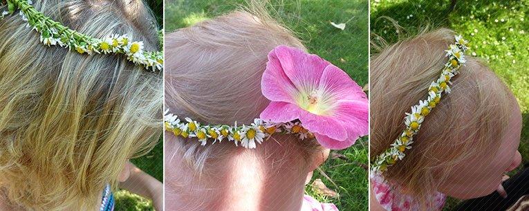 Blumenkranz als Kopfschmuck